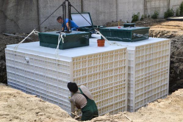Канализация Юнилос Астра 100 на завод дорожных покрытий в Рощино